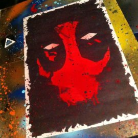 Deadpool poster print artwork by Diesel's artistic creations