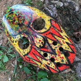 House of Krazees Hockey Mask by Diesel's Artistic Creations