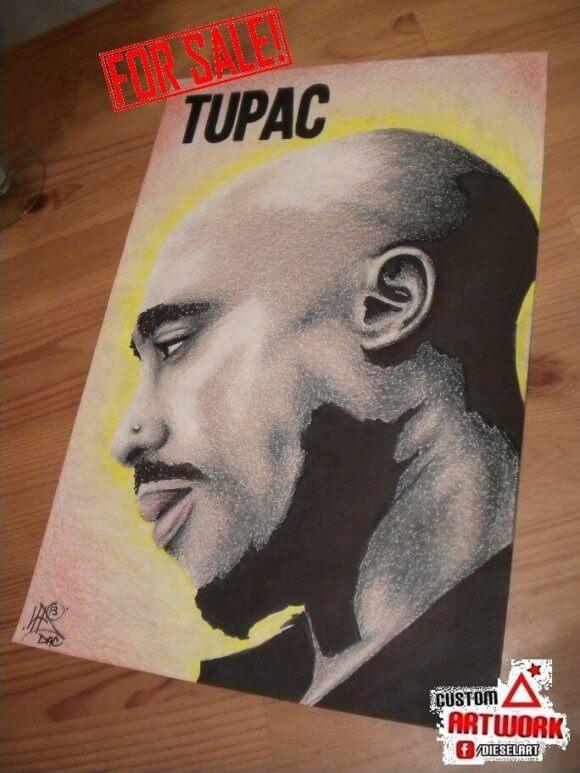 tupac art drawing