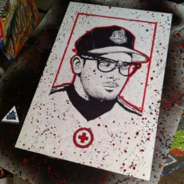 Charlie Sheen Ricky Vaughn Art Poster by Diesel's Artistic Creations